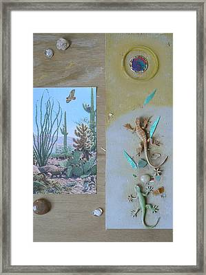 Mystical Desert  C Framed Print by Mary Ann  Leitch