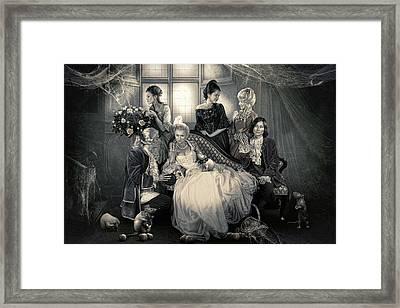 Mystical Family Framed Print by Cindy Grundsten