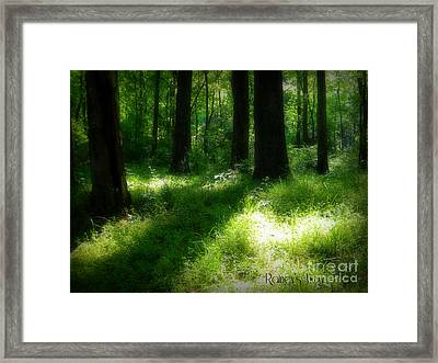 Mystical Forest Framed Print by Lorraine Heath