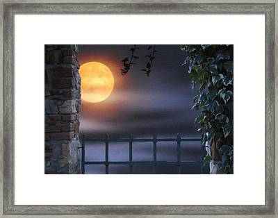 Mystical Moon Framed Print by Kenny Francis