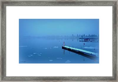Mystical  Morning - Skaha Lake 03-06-2014 Framed Print