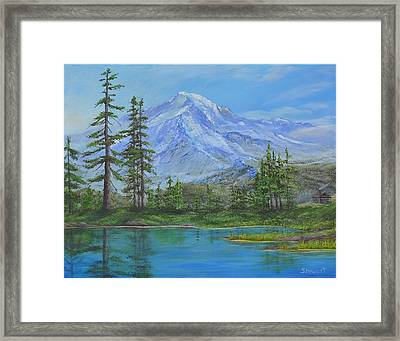 Mystical Mt. Rainier  Framed Print