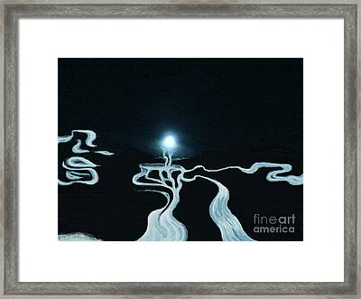 Mystic Rivers Framed Print by Jacquelyn Roberts