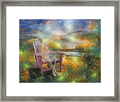 Mystical Sam On Topsail Framed Print by Betsy C Knapp
