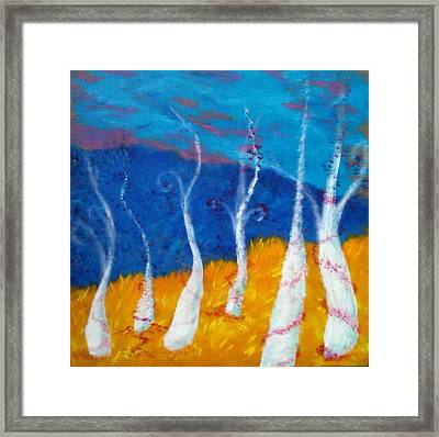 Mystical Trees Framed Print by Felicia Roberts