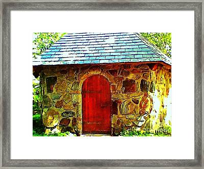 Myth And Mystical Chapel Framed Print by Becky Lupe