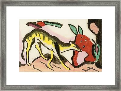 Mythical Animal  Framed Print by Franz Marc