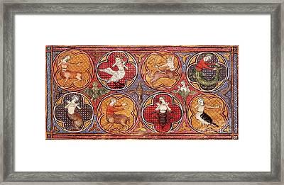 Mythical Creatures, 15th Century Framed Print