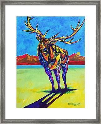 Mythical Elk Framed Print by Derrick Higgins