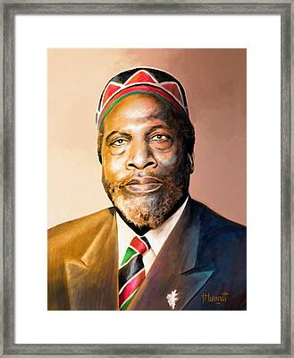 Mzee Jomo Kenyatta Framed Print