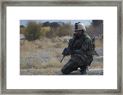 N Afghan National Army Special Forces Framed Print