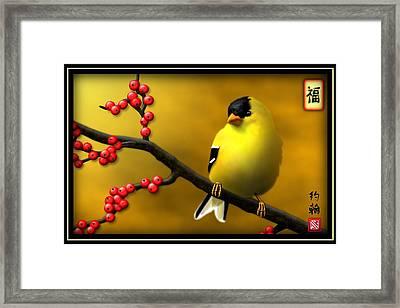 N. American Male Goldfinch Framed Print by John Wills