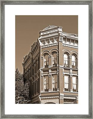 N. D. Hill Building. Port Townsend Historic District  Framed Print