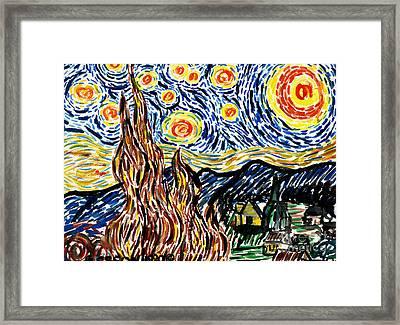 Vincent Van Goghs Starry Night Framed Print