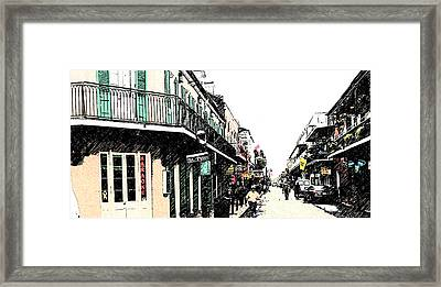 N O French Quarter Framed Print