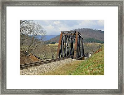 N W Railroad Trestle Framed Print