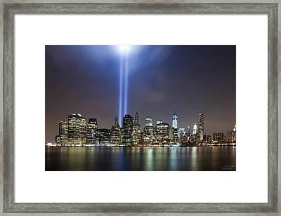 N Y C The Lights Framed Print