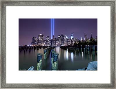 N Y C Tribute Framed Print by Shane Psaltis