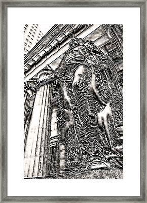 N Y C - Washington On Wall Street Framed Print by Linda  Parker