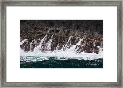 Na Pali Cascade Framed Print