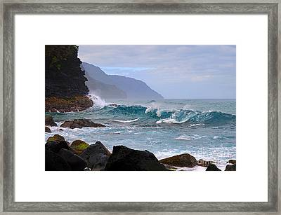 Na Pali Coast In Hawaii Framed Print by Catherine Sherman
