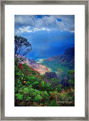 Na Pali Coast Kauai Framed Print