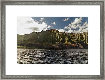 Na Pali Coast Kauai Hawaii Framed Print by Brian Harig