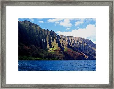 Na Pali Coast On Kauai Framed Print by Amy McDaniel