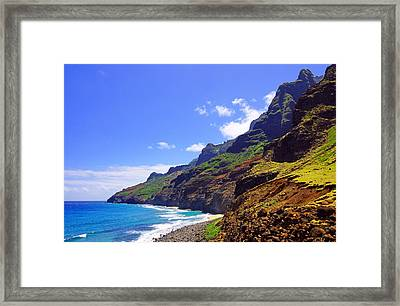Na Pali Coast Trail Kauai  Framed Print