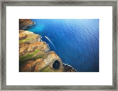 Na Pali Lava Tube Framed Print by Kicka Witte