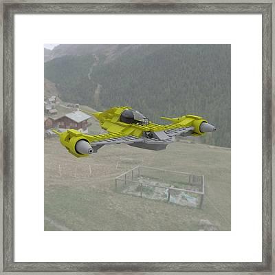Naboo N1 In Flight Framed Print by John Hoagland