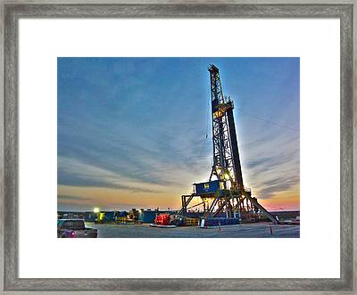 Framed Print featuring the photograph Nabors Rig In West Texas by Lanita Williams