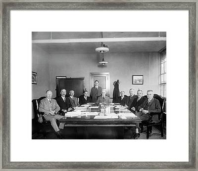 Naca Aeronautics Committee Framed Print by Library Of Congress
