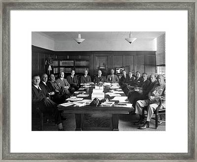 Naca Aeronautics Committee Framed Print by Nasa