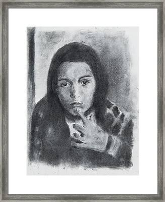 Nachman Thinking Framed Print