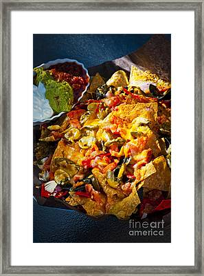 Nacho Basket With Cheese Framed Print