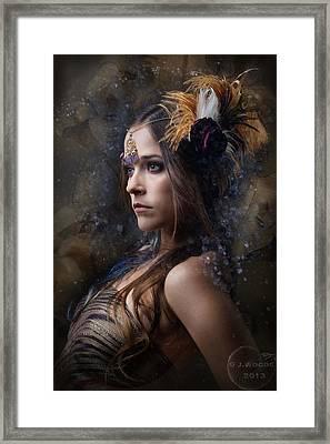 Nacl Divinorum Framed Print by Jay Woods