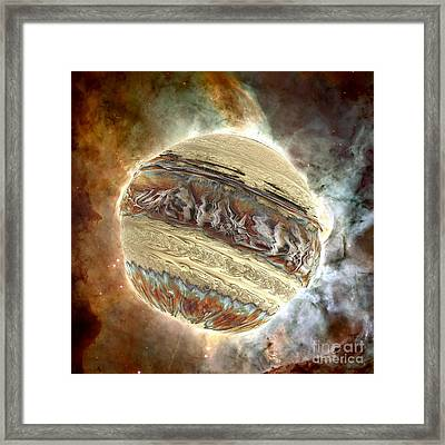 Nacre Planet Framed Print by Bernard MICHEL