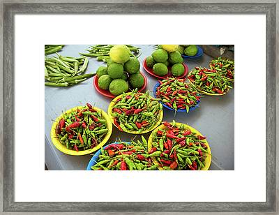 Nadi, Fiji Islands, Suva, Peppers Framed Print by Miva Stock