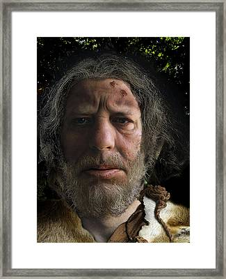 Nafets Neandertal Framed Print by Nafets Nuarb