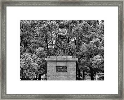 Nagasaki Peace Park Study 1 Framed Print by Robert Meyers-Lussier