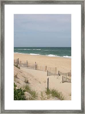 Nags Head Beach Framed Print by Paula Tohline Calhoun