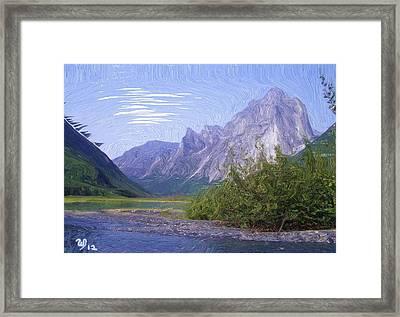 Nahanni Valley Framed Print by Wayne Bonney