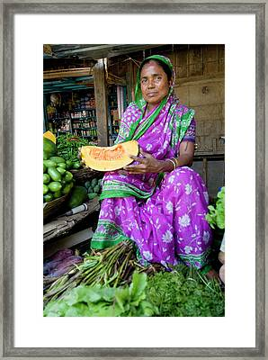 Naharlagun Market, Itanagar, Arunachal Framed Print