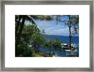 Nahiku Kaelua Honolulunui Bay Maui Hawaii Framed Print by Sharon Mau