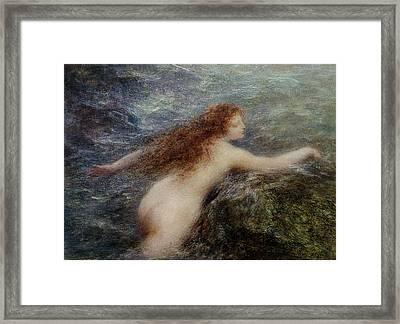 Naiade Framed Print by Ignace Henri Jean Fantin-Latour