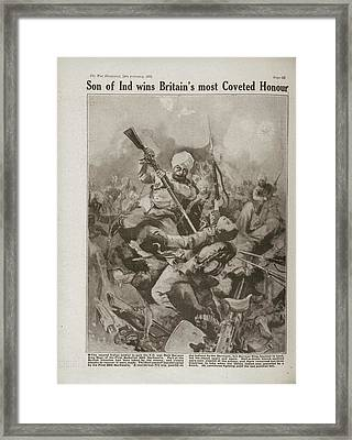 Naik Darwen Singh Negi Framed Print by British Library