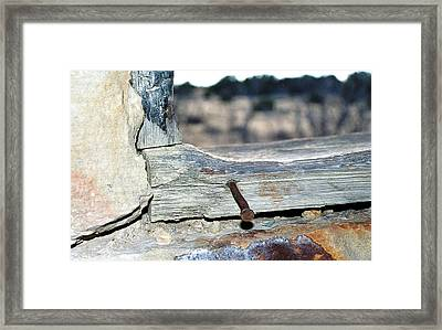 Nail On The Trail Framed Print