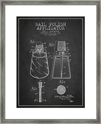 Nail Polish Applicator Patent From 1963 - Dark Framed Print by Aged Pixel