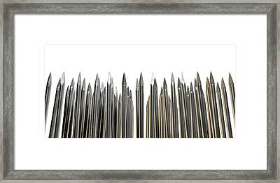 Nails Array Abstract Macro Framed Print by Allan Swart